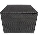 Santa Rosa Outdoor Wicker Storage Box by Christopher Knight Home Grey