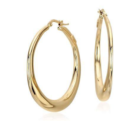 """Bold Hoop Earrings in 14k Yellow Gold (1 1/2"""")   Blue Nile"""