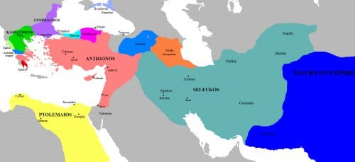 Map of the Successor Kingdoms, c. 303 BCE