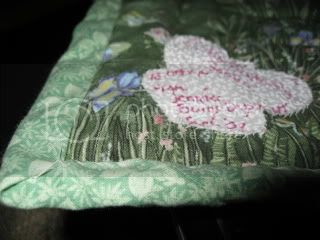 Label and Binding on Butterfly Garden