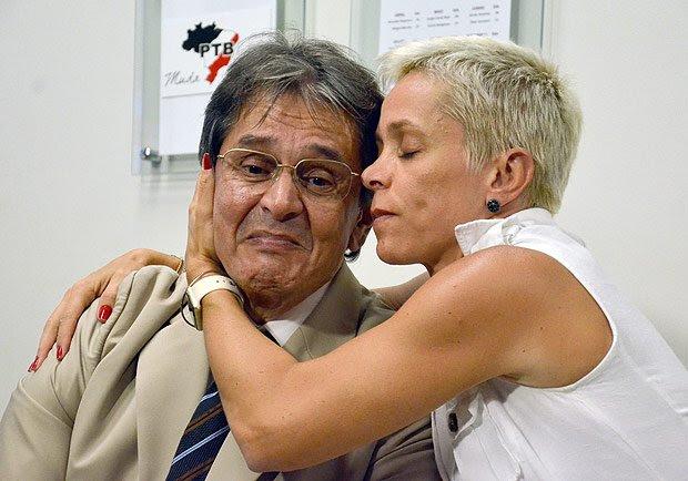 Resultado de imagem para fotos da deputado cristiane brasil com roberto jefferson