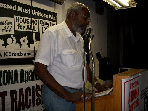 Abayomi Azikiwe, editor of the Pan-African News Wire, speaking at the Black August commemoration in Detroit. The event honored the legacy of rebellion inside the United States. by Pan-African News Wire File Photos