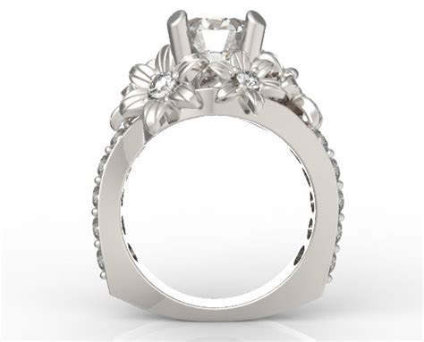 Three Carat Diamond Flower Engagement Ring!   Vidar