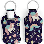 Unicorn Rainbows and Potions Hand Sanitizer Key Ring Holder with 30ml Bottle