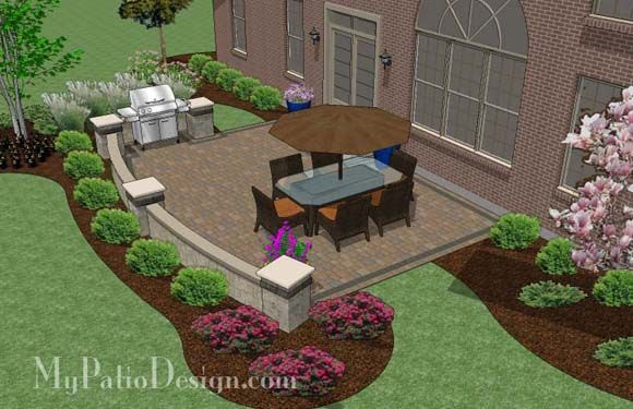 Backyard landscaping ideas with patio