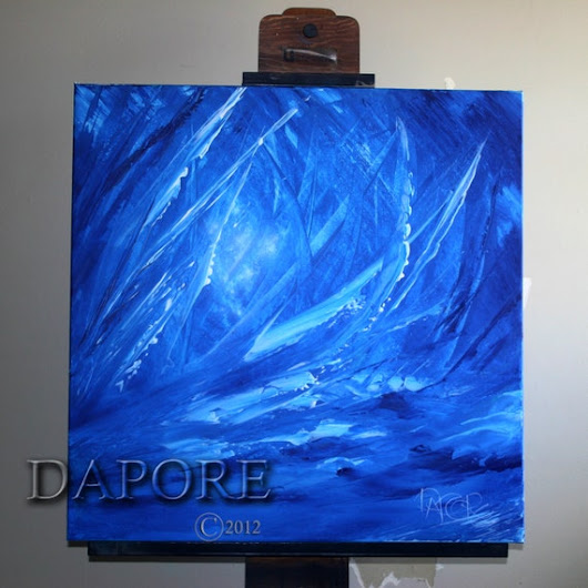 Blue Abstract Art Painting by Dapore