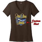 PilotMall.com Pilot Mom Custom V-Neck T-Shirt, Brown