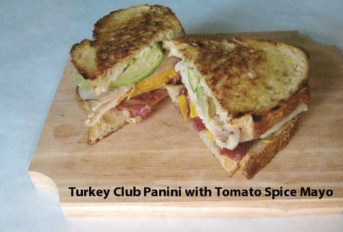 Turkey Club Panini with Tomato Spice Mayo