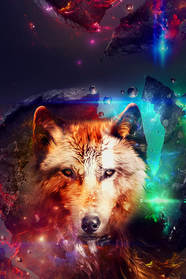 Abstract Wolf iPhone Wallpaper HD