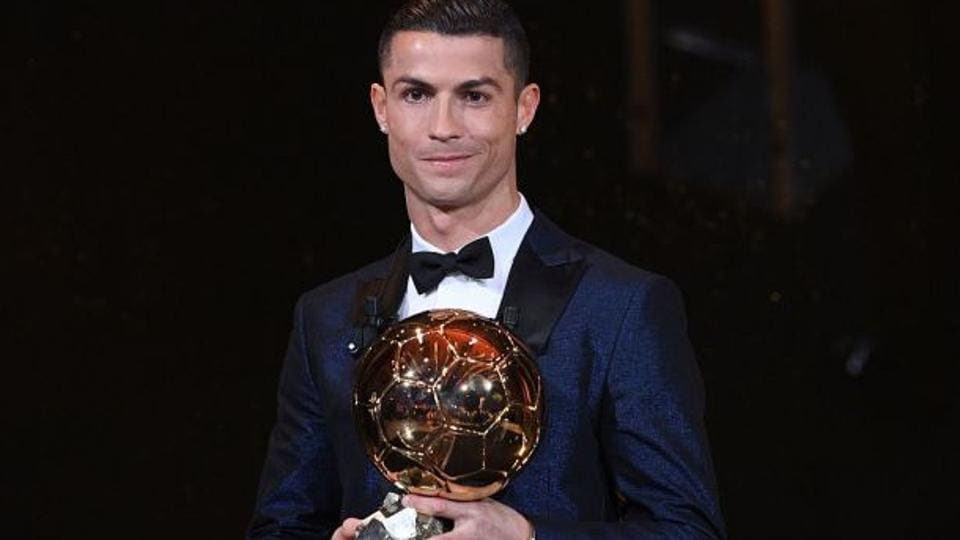 Image result for CRISTIANO RONALDO WINS FIFTH BALLON D'OR TO EQUAL LIONEL MESSI