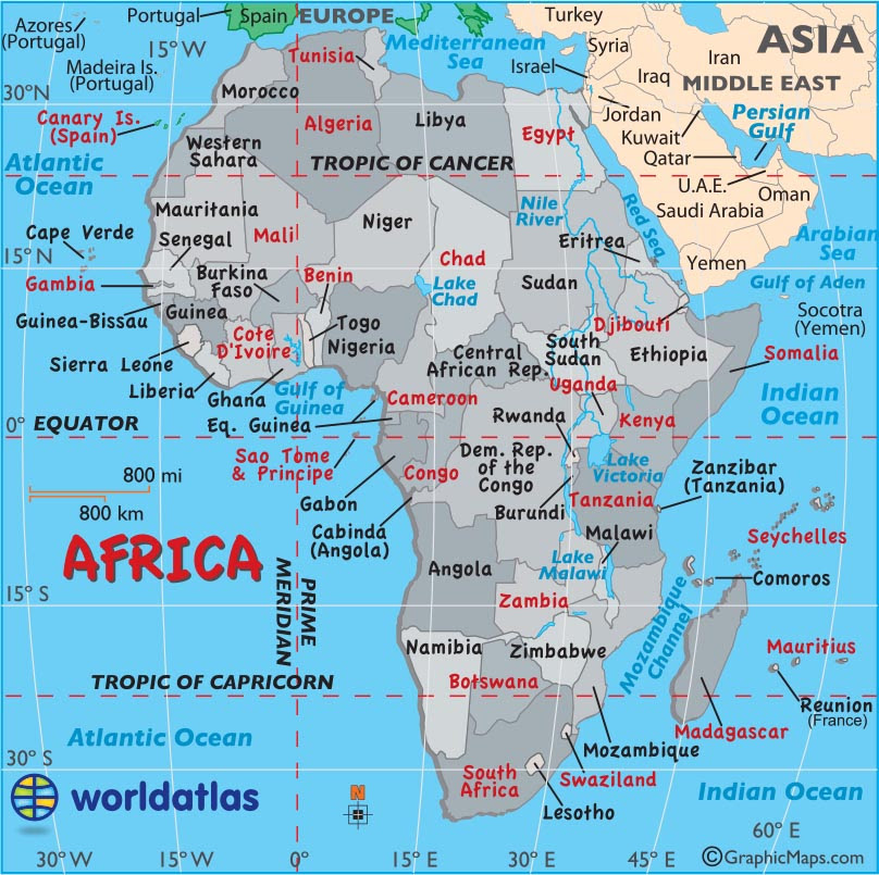 Large Map Of Africa | Map Of Africa