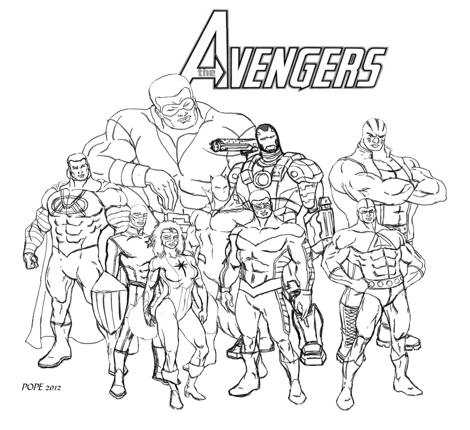 Avengers Ausmalbilder Zum Drucken: Ausmalbilder The Avengers