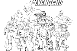 Kidsnfun.de 18 Ausmalbilder von Die R\u00e4cher Avengers