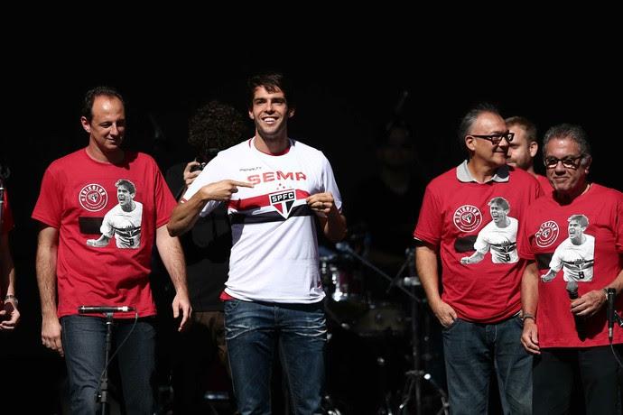 kaká apresentação São Paulo (Foto: Marcos Ribolli)