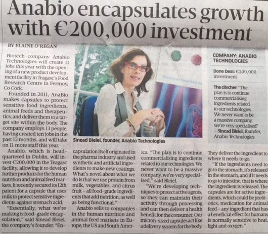 AnaBio Encapsulates Growth With €200,000 Investment - AnaBio