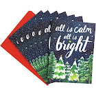 Waste Not Paper - All Is Calm All Is Bright Holiday Card - 10 Pack