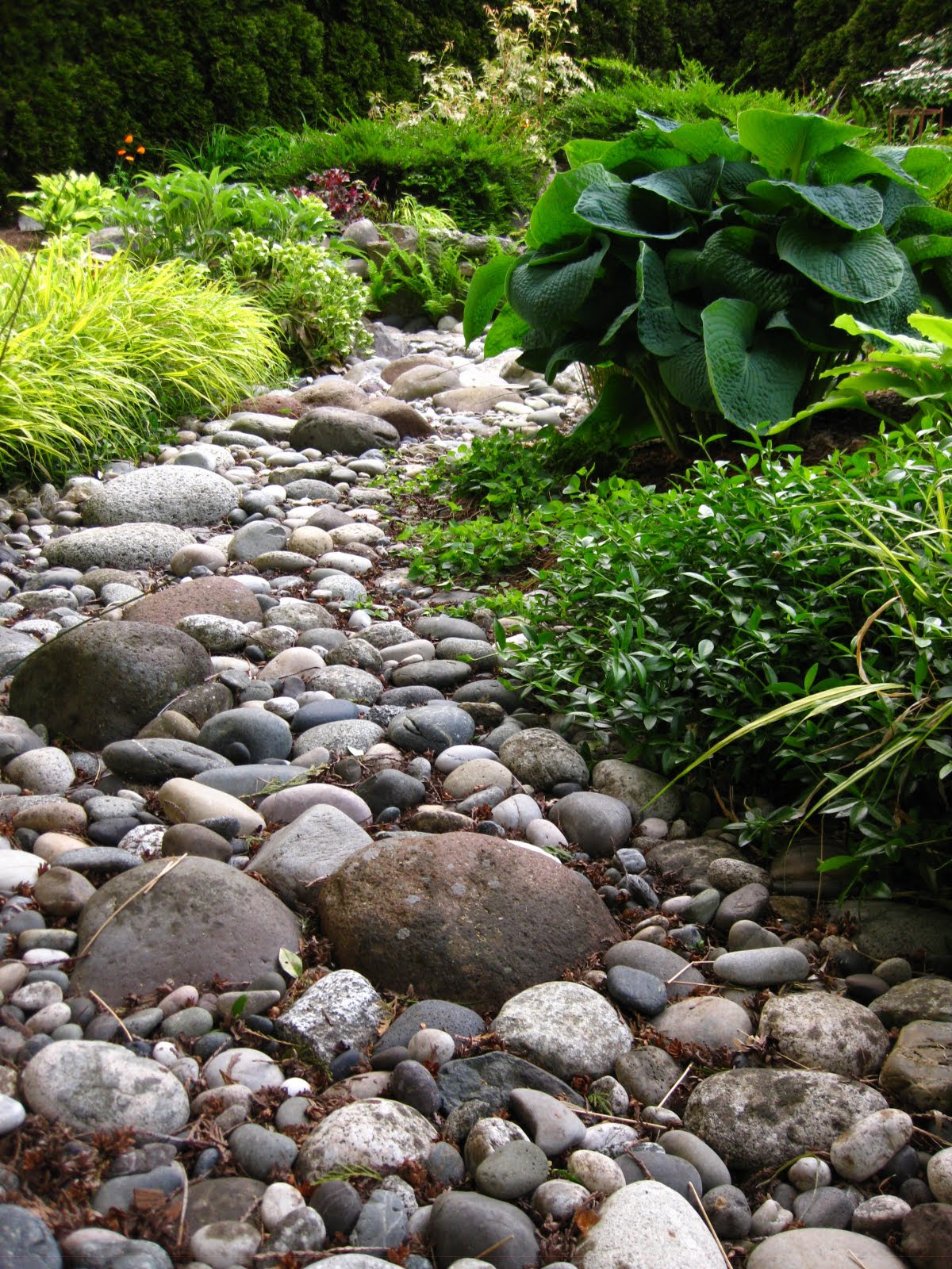 Dry Creek Beds with Rocks for Landscaping