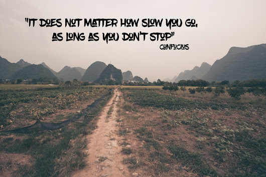 Wednesday Words: Confucius says slow