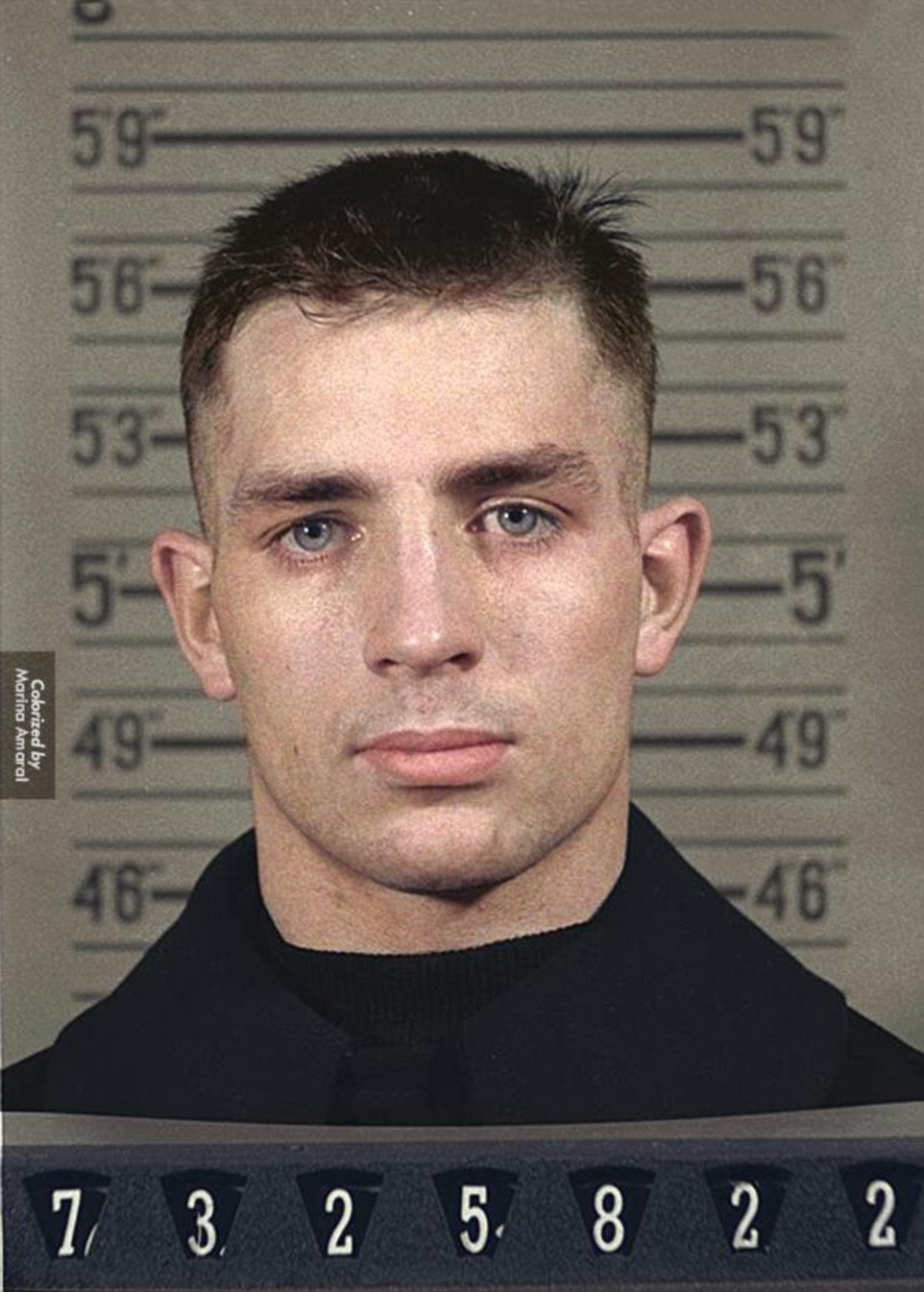 Literary hero: Jack Kerouac, an American novelist and poet, is pictured here in his naval reserve mugshot.In the summer of 1942, Kerouac - after dropping out of Columbia University - signed up for the merchant marine and shipped out aboard the U.S. Army Transport ship Dorchester