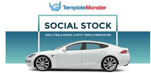 Social Stock: Win a Tesla Model S with TemplateMonster - Blogging Ways