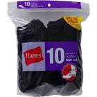 Hanes Ladies Low Cut Socks 10 Pack, Black
