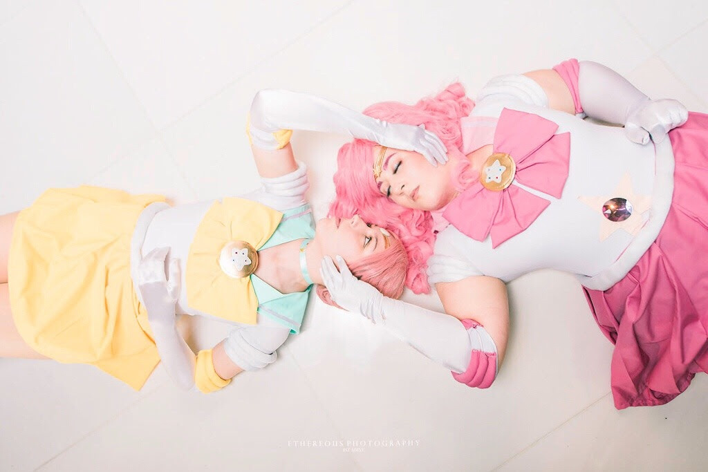 Me as Sailor!Pearl and @minisuccessor as Sailor!Rose from Otakon!