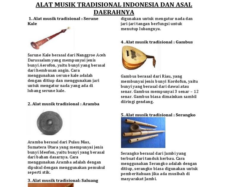 Alat Musik Tradisional Dan Cara Memainkannya Dan Asal Daerahnya Gambar Alat Musik