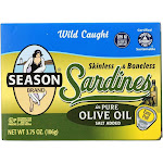 Season Skinless & Boneless Sardines In Pure Olive Oil - Case Of 12 - 3.75 Oz