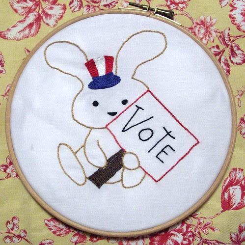 Voting bunny
