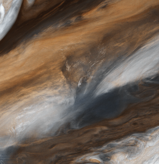 Jupiter's clouds from Voyager 1