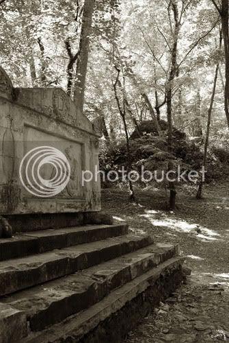 La tombe de Louise Dupin dans la forêt de Chenonceau