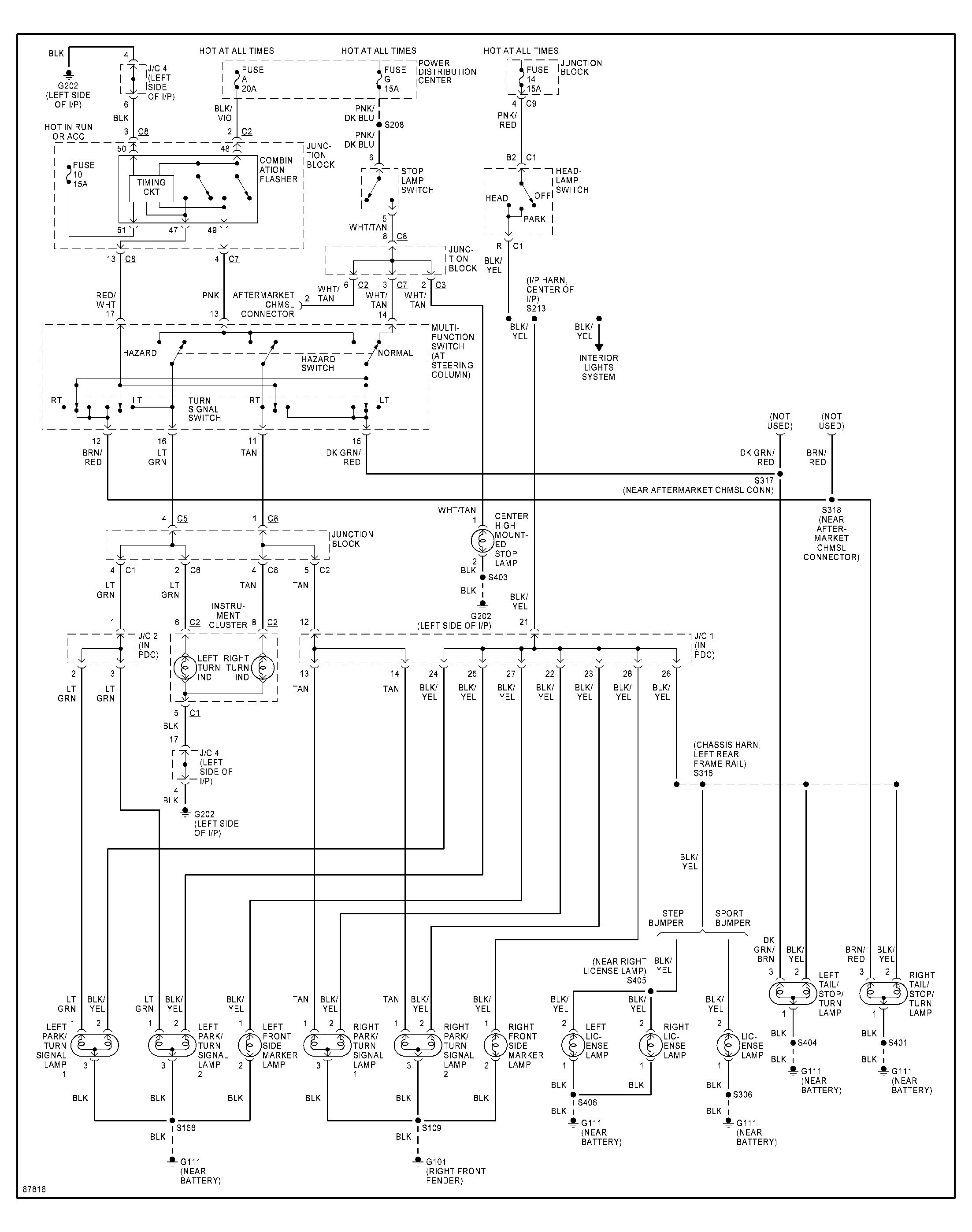 Ignition System Wiring Diagram 1992 Dodge Dakotum Fuel