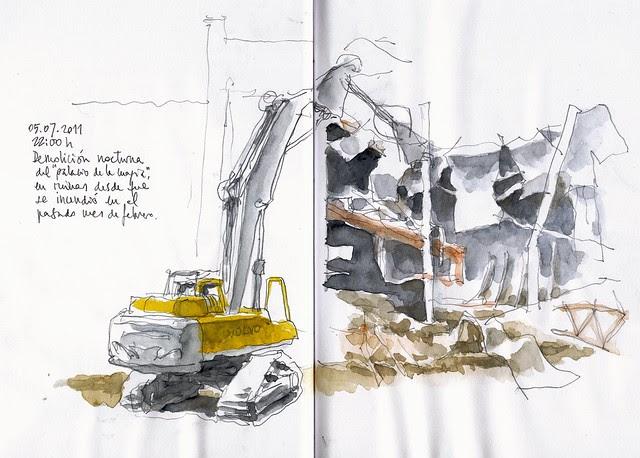 Málaga, night demolition, day 1