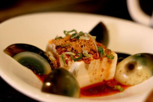 Tofu with century eggs