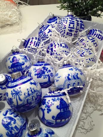 Blue and White Hand Painted Ornaments by Dana Mahnke on Etsy Indigo Home