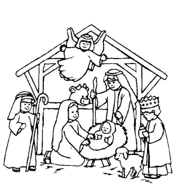 Christmas Coloring Pages Jesus - Coloring And Drawing