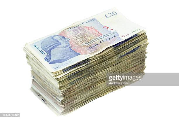 pile of twenty pound notes picture id166027652?s=612x612