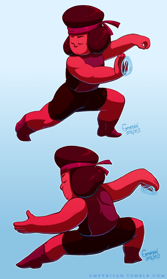 Shaolin & Tai Chi Mindful action and balance. Drawing influences from Avatar: The Last Airbender! My partner, @jcstitches, requested Ruby practicing Tai Chi (waterbending) and I figured it'd be...