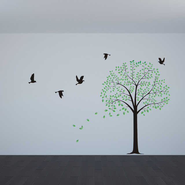 tree wall decals with birds wall decor wall sticker for bedroom