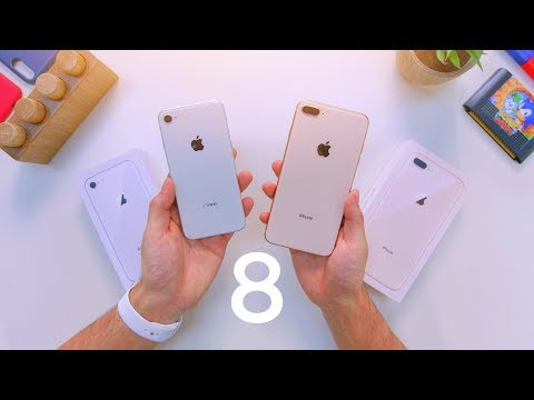 iPhone 8 vs 8 Plus Unboxing & Comparison