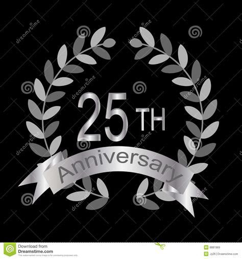 25th Anniversary (vector) Royalty Free Stock Images