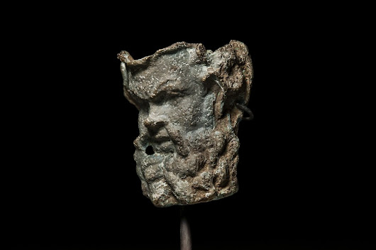 FEATURED ITEM:  Hellenistic Bronze Face of Silenus Greek god of Drunkenness and Wine