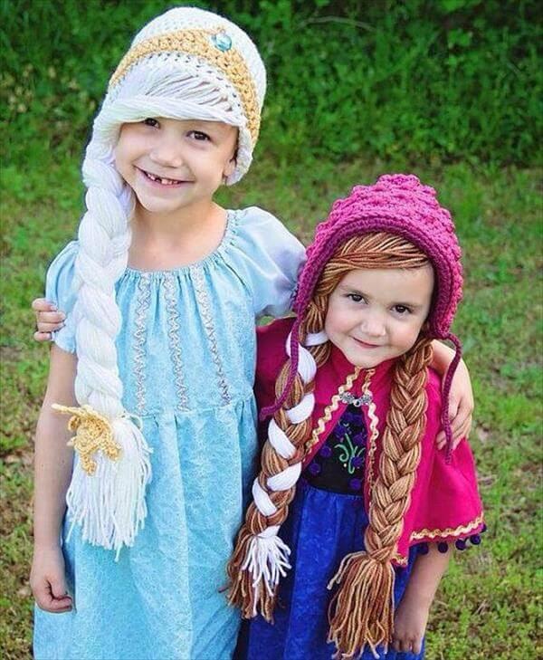 braided crochet kids hats pattern
