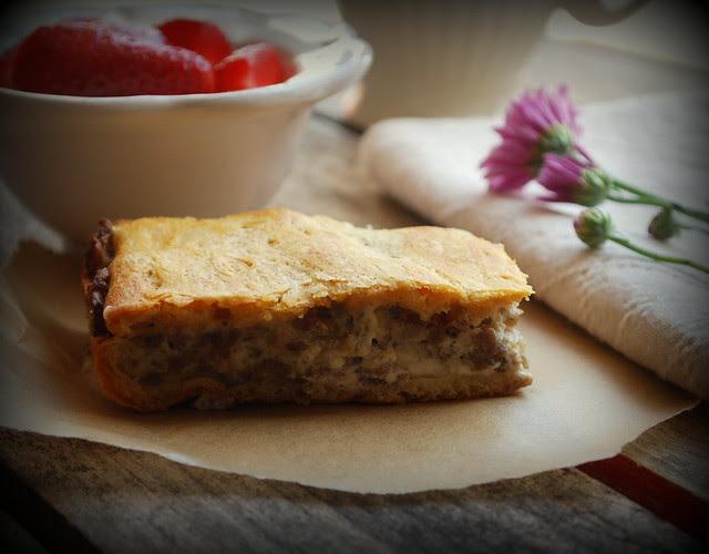 Sausage Biscuit Casserole 1