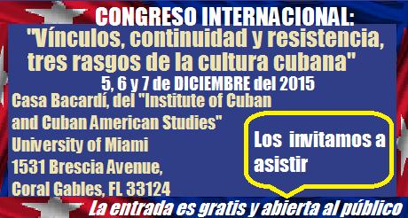 congreso internacional tres rasgos cultura cubana