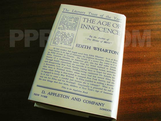 First Edition Points To Identify The Age Of Innocence By Edith Wharton