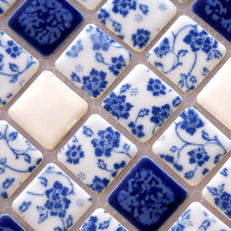 Porcelain Tile Shower Mosaic Floor Tiling Pattern ...