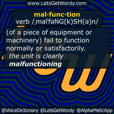 malfunction 01/25/2016 GFX Definition