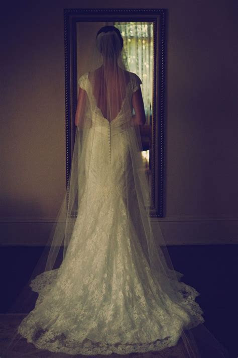 Bridal Gown   Chapel Length Veil   Open Back Wedding Dress