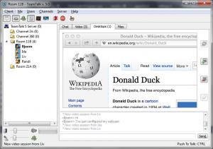 Navigateur Web Safari partagé avec les utilisateurs de la chaîne.